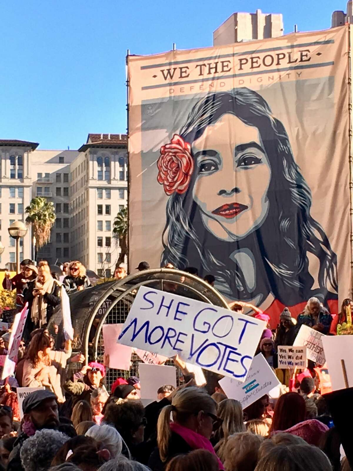 A sign at the Women's March in Los Angeles, Jan. 21, 2017. Scroll through the gallery to see more photos from the Women's March in January. Caution: There may be offensive language in the photos.