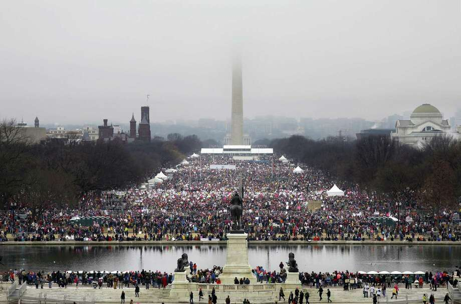 Demonstrators at the National Mall during the Womenís March on Washington , Jan. 21, 2017. (Chang W. Lee/The New York Times) Photo: CHANG W. LEE, STF / NYT / NYTNS