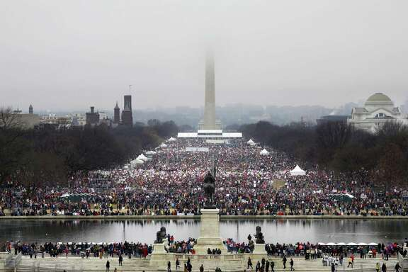 Demonstrators at the National Mall during the Womenís March on Washington , Jan. 21, 2017. (Chang W. Lee/The New York Times)