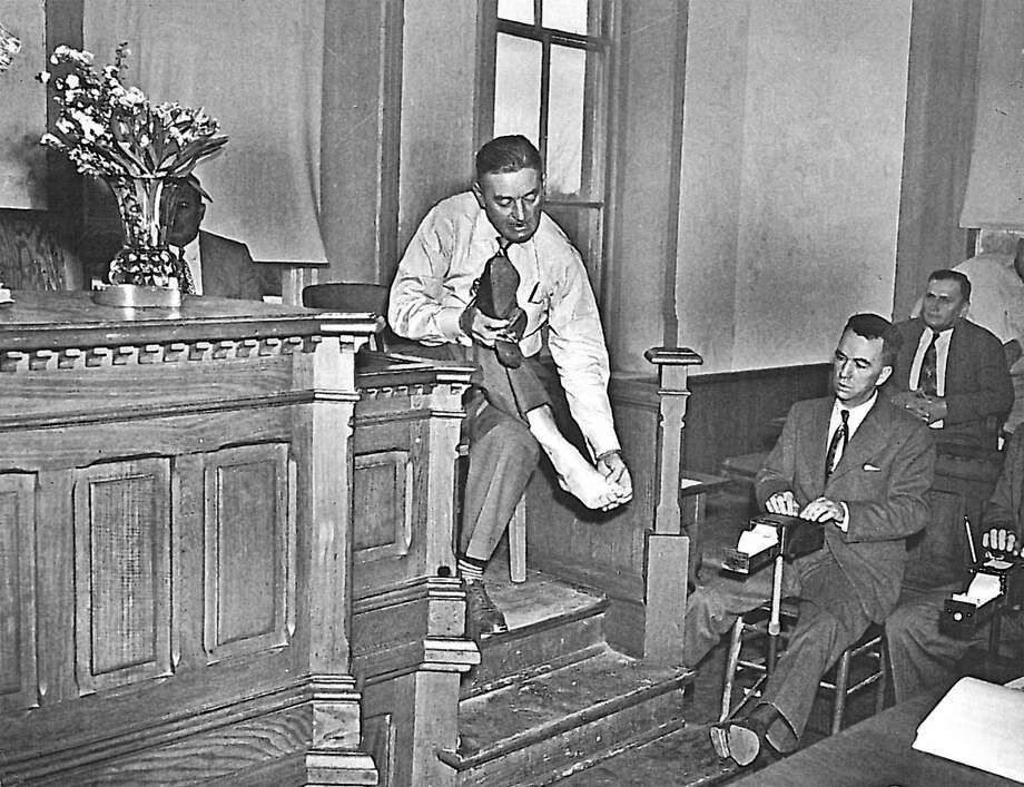 Lynn Stephens was tried in 1950 for the killing of a federal agent during Prohibition. In the attack, Stephens was shot in the foot. Photo: Institute Of Texan Cultures /Courtesy Photo