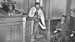 Lynn Stephens was tried in 1950 for the killing of a federal agent during Prohibition. In the attack, Stephens was shot in the foot.