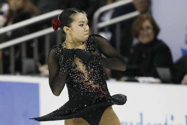 Karen Chen performs during the ladies free skate competition at the U.S. Figure Skating Championships, Saturday, Jan. 21, 2017, in Kansas City, Mo. (AP Photo/Colin E. Braley)