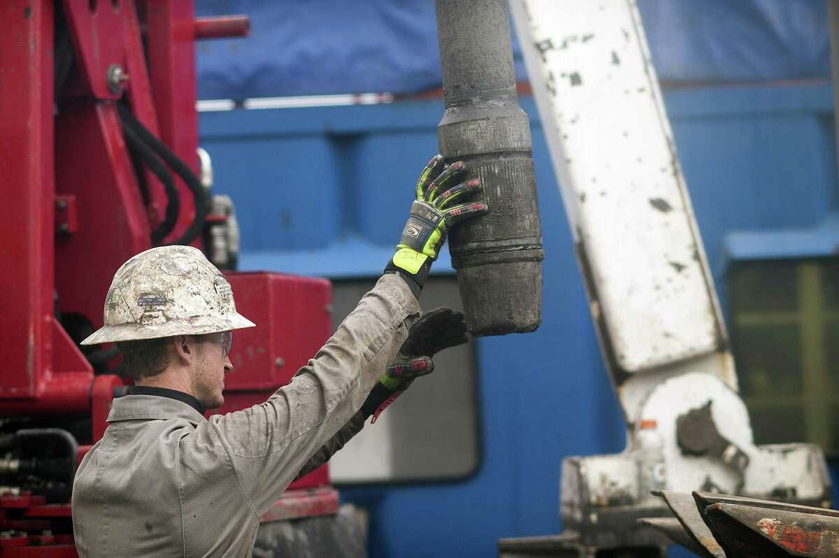 File photo of a natural gas well owned by EQT Corp. at a hydraulic fracturing site located atop the Marcellus shale rock formation in Washington Township, Pennsylvania. The U.S. Geological Survey estimates that the Mancos Basin in Colorado holds 66 trillion cubic feet of natural gas on federal lands - a deposit close in size to the Marcellus Shale in Pennsylvania. Oilmen are hoping Donald Trump's White House opens drilling on federal lands.