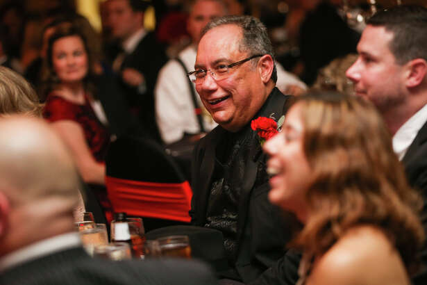 Outgoing board chairman Hector Forestier, of the Conroe/Greater Lake Conroe Chamber of Commerce, laughs during the Chairman's Ball on Saturday, Jan. 21, 2017, at La Torretta Lake Resort & Spa.