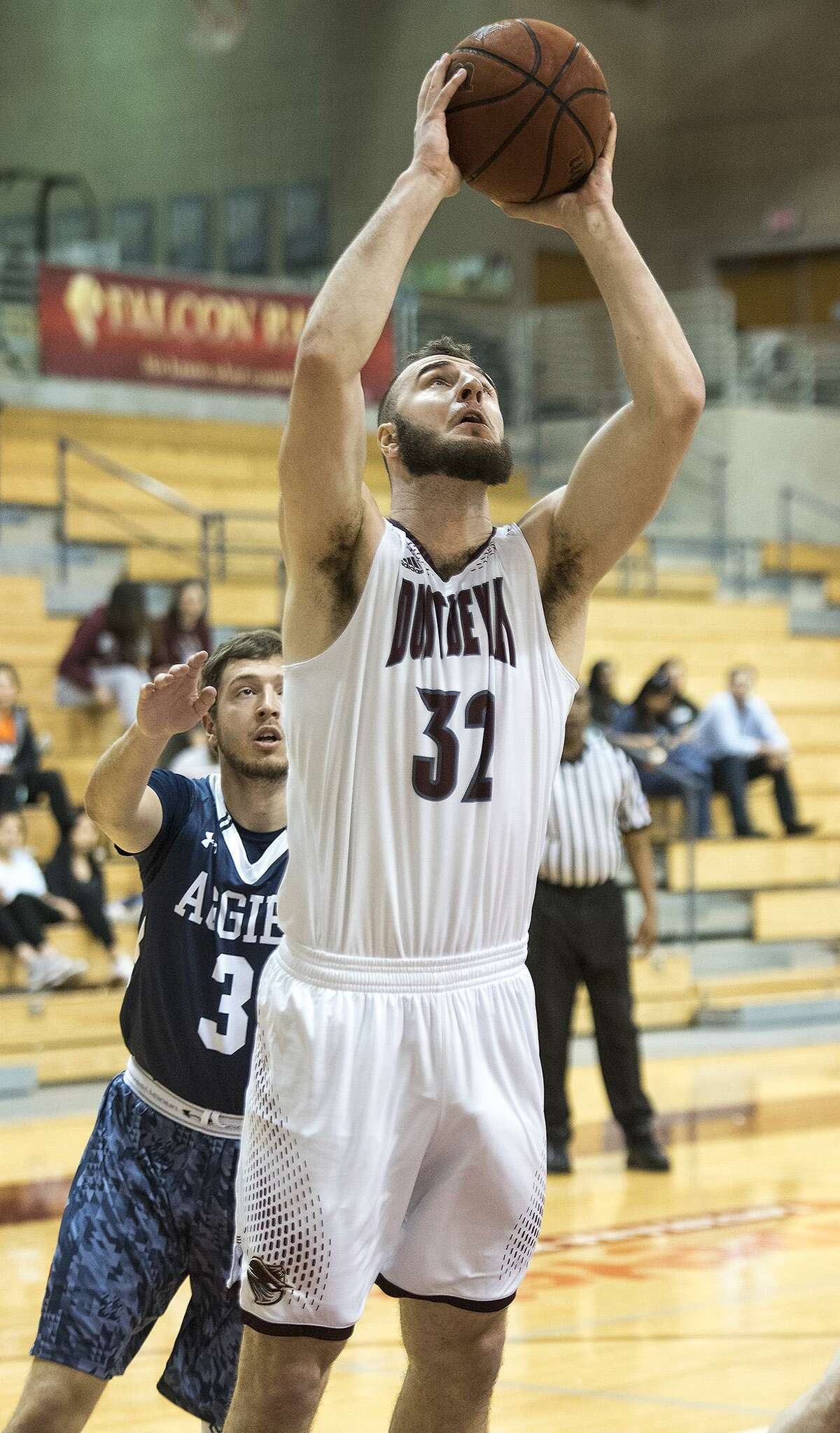 TAMIU's Jordan VanDeKop led the way with 16 points while also picking up seven rebounds and five assists as the Dustdevils downed Oklahoma Panhandle State 76-63 on Saturday.