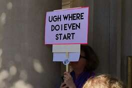 A sign at the Los Angeles Women's March on Jan. 22, 2017
