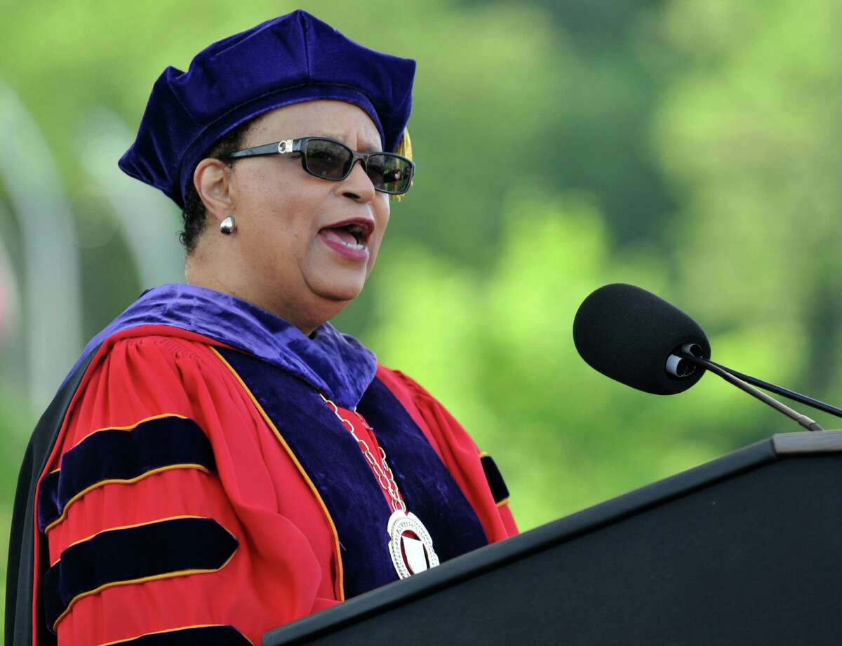 Rensselear Polytechnic Institute President Shirley Ann Jackson speaks during RPI's President's Commencement Ceremony Saturday May 30, 2015, in Troy N.Y. (Phoebe Sheehan/Special to the Times Union)