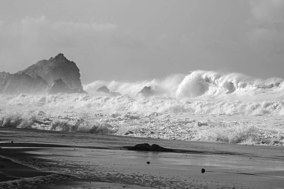 Big waves pounded the coast at McClures Beach in Point Reyes National Seashore on Jan. 21, 2017.