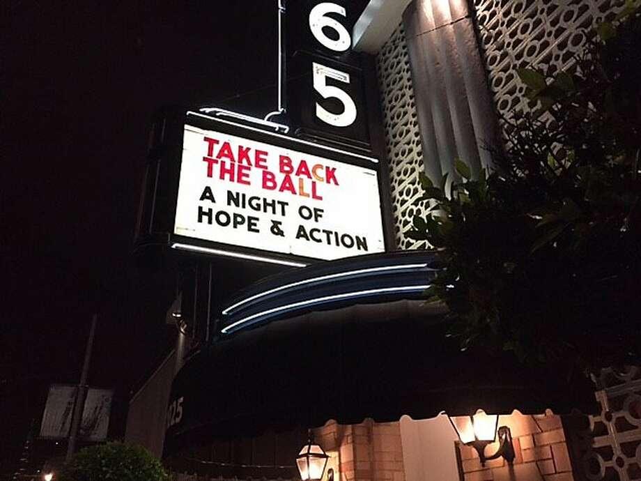 Take Back the Ball at Bimbo's in San Francisco. Photo: Leah Garchik, San Francisco Chronicle
