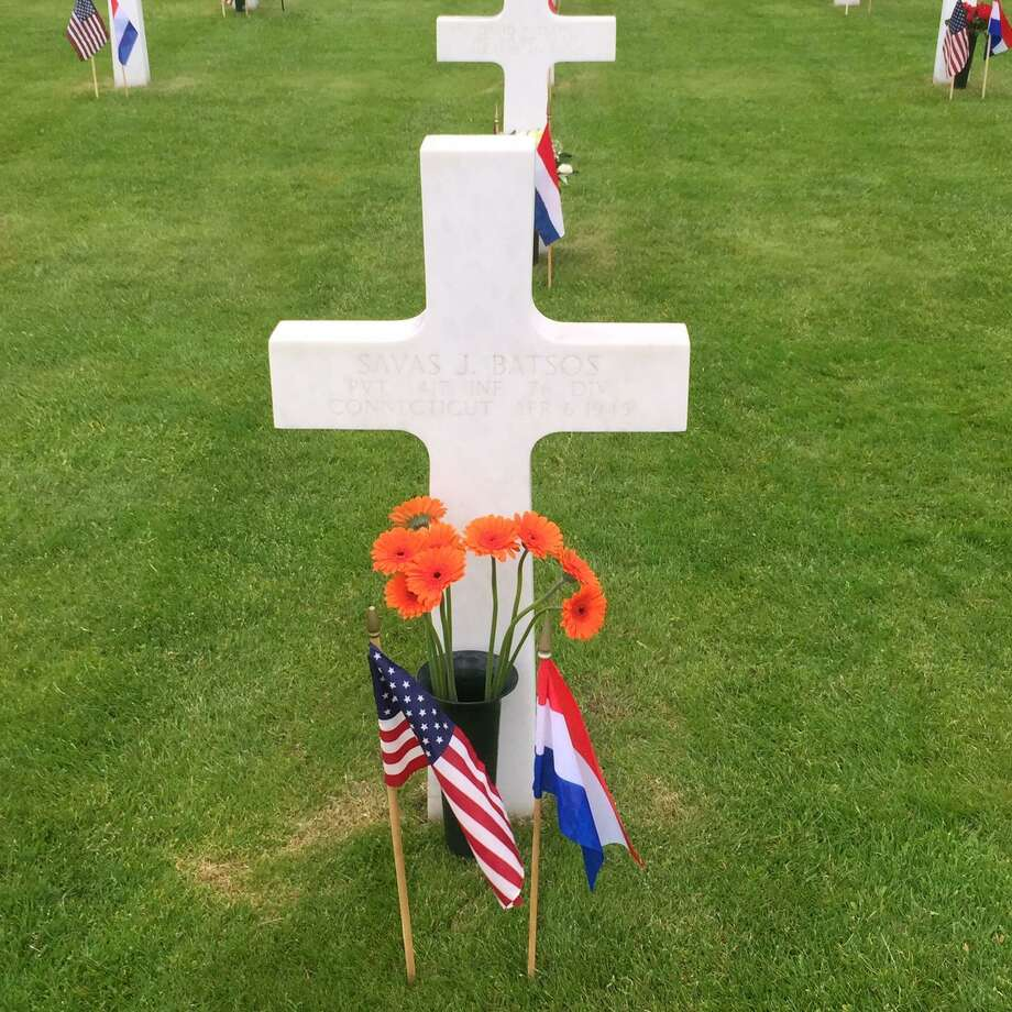 For more than half a century, a Dutch family has tended the grave of fallen Norwalk soldier Savas Batsos. Photo: Contributed