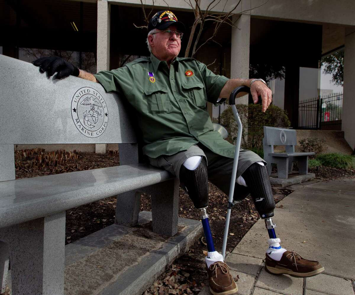 Retired United States Marine Corps Cpl. Jimmie Edwards III is working to decommission the Montgomery County War Memorial Park in hopes to relocate it from its current location nestled between the county tax office and Conroe Tower to a larger, more visible and accessible location yet to be determined. The former Texas Representative and Montgomery County judge plans to meet with county leaders at Montgomery County Commissioners Court Jan. 24. Edwards lost both legs after being hit by a mortar shell while serving in Vietnam in 1969.