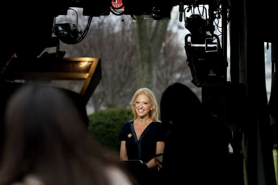 "Trump and adviser Kellyanne Conway have exploited preexisting distrust, frustration and polarized versions of ""truth."" Photo: Andrew Harnik, STF / Copyright 2017 The Associated Press. All rights reserved."