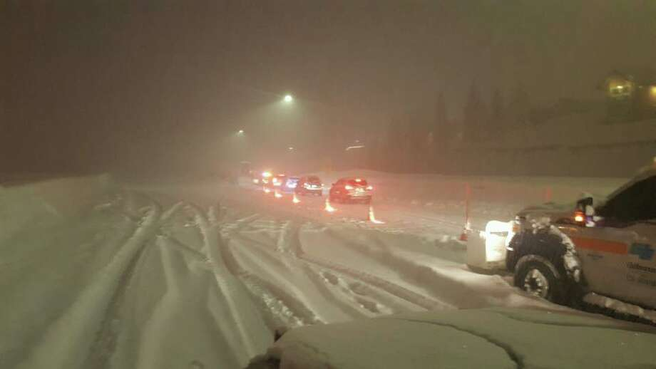 Parts of I-80 was closed Sunday evening due to heavy snow and poor visibility, according to the California Highway Patrol. The shutdowns were on I-80 westbound at the Nevada State Line and eastbound in Colfax. Photo: Courtesy CHP Truckee