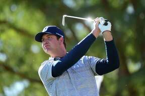 LA QUINTA, CA - JANUARY 21:  Hudson Swafford tees off during the third round of the CareerBuilder Challenge in Partnership with The Clinton Foundation at the TPC Stadium Course at PGA West on January 21, 2017 in La Quinta, California.  (Photo by Harry How/Getty Images) ORG XMIT: 686966367