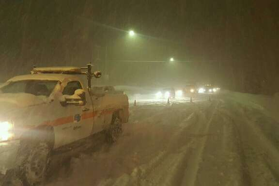 Parts of I-80 was closed Sunday evening due to heavy snow and poor visibility, according to the California Highway Patrol. The shutdowns were on I-80 westbound at the Nevada State Line and eastbound in Colfax.