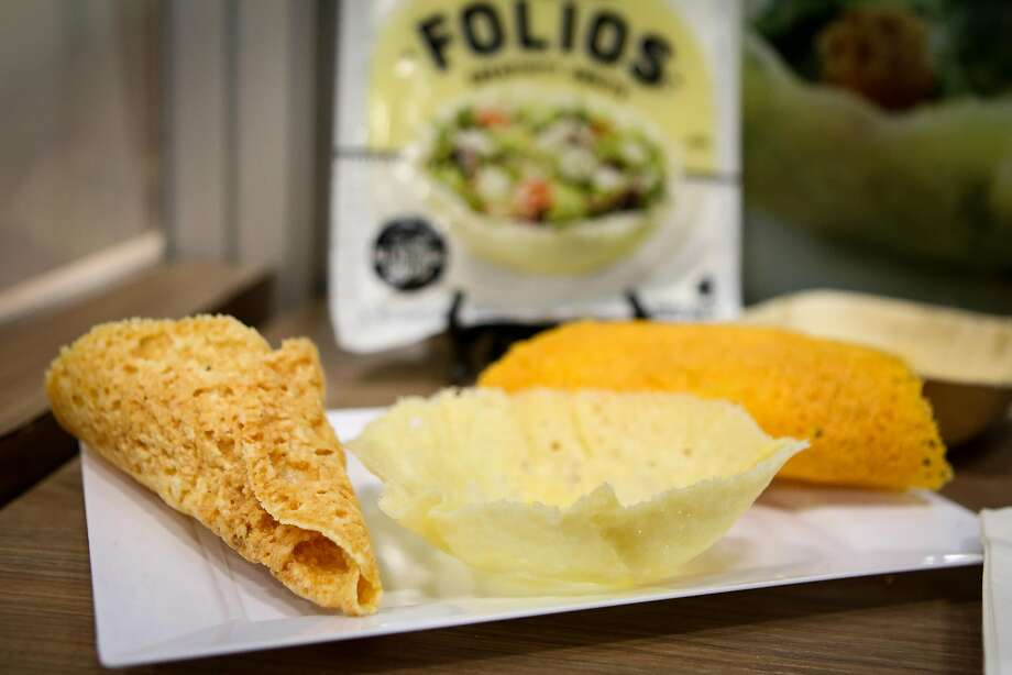 Norseland's cheese Folios at the Fancy Food Show. Photo: Amy Osborne, Special To The Chronicle