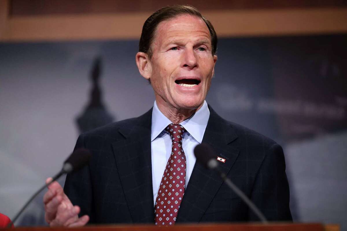 WASHINGTON, DC - JANUARY 12: Sen. Richard Blumenthal (D-CT) speaks during a news conference at the U.S. Captiol January 12, 2017 in Washington, DC. The Democratic senator said hewould vote against his colleague Sen. Jeff Sessions (R-AL) for attorney general of the United States. (Photo by Chip Somodevilla/Getty Images)