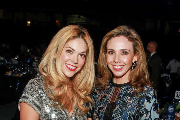 "Veronica Massiatte, left, and Maria Morales at the Houston Astros Foundation's second annual ""Diamond Dreams"" gala. (For the Chronicle/Gary Fountain, January 20, 2017)"
