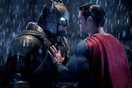 """This image released by Warner Bros. Pictures shows Ben Affleck, left, and Henry Cavill in a scene from, """"Batman v Superman: Dawn of Justice.""""  The film received eight nominations for the 37th annual Razzie Awards on Monday, Jan. 23, 2017, including one for worst worst picture. The awards will be announced on Feb. 25. (Clay Enos/Warner Bros. Pictures via AP)"""