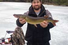 Grafton Lakes State Park held its annual ice fishing contest on Saturday, Jan. 21, 2017. (Photo courtesy of Grafton Lakes State Park)