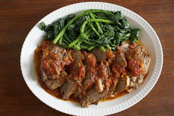 Jessica Battilana has a new cooking column, Repertoire, where she makes a beef and tomato braise on Thursday, January 19, 2017, in San Francisco, Calif.