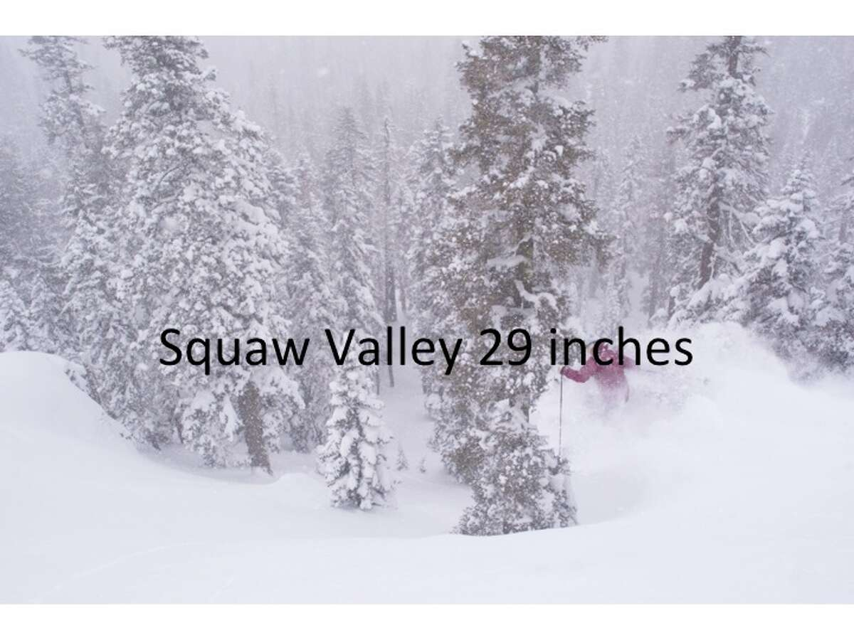 24-hour snowfall totals for the north Sierra Nevada: January 22 to 23, 2017