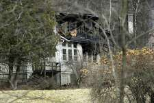 A fire that erupted about 8 p.m.  Sunday night did major damage to the former Wykeham Rise School for Girls in Washington. Photo Monday, January 23, 2017.