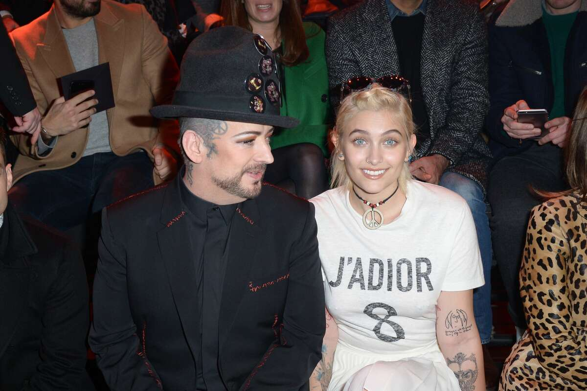 Boy Georges and Paris Jackson attend the Dior Homme Menswear Fall/Winter 2017-2018 show as part of Paris Fashion Week on January 21, 2017 in Paris, France.
