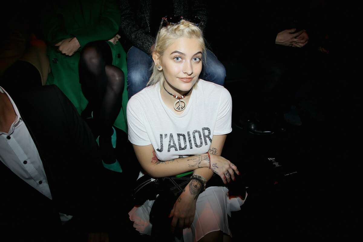 Paris Jackson attends the Dior Homme Menswear Fall/Winter 2017-2018 show as part of Paris Fashion Week on January 21, 2017 in Paris, France.