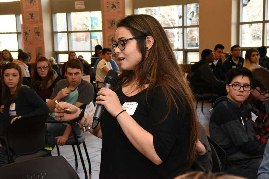 Were you Seen at the 13th Annual STOP Conference in the Sarazen Student Union on the Siena College campus in Loudonville on Friday, January 13, 2017? Siena College and the Anti-Defamation League's A World of Difference Institute hosted 250 students from 30 area middle schools and high schools to talk about tolerance, diversity and respect, and how they can bring what the learned back to their schools. The conference also featured artwork and writing created by the students, and a reception was held Friday evening for the student artists and their families. This annual program is funded by the Golub Family Foundation. Photo: Siena College
