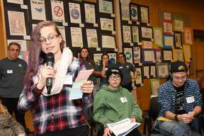 Were you Seen at the 13th Annual STOP Conference  in the Sarazen Student Union on the Siena College campus in Loudonville on Friday, January 13, 2017? Siena College and the Anti-Defamation League's A World of Difference Institute hosted 250 students from 30 area middle schools and high schools to talk about tolerance, diversity and respect, and how they can bring what the learned back to their schools. T  he conference also featured artwork and writing created by the students, and a reception was held  Friday  evening for the student artists and their families.  This annual program is funded by the Golub Family Foundation.