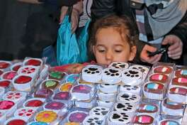 A young girl ponders her options at the Chocolate Expo at the Maritime Aquarium at Norwalk. The event returns on Sunday, Jan. 29.