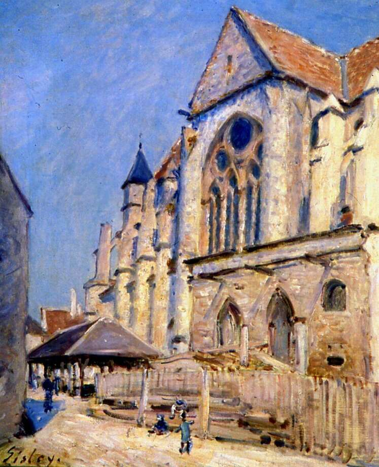 "Alfred Sisley's ""Church at Moret,"" 1893, an oil on canvas on loan to the Bruce Museum from the Musée Calvet d'Avignon, France. Photo: Musée Calvet D'Avignon, France / Contributed Photo"