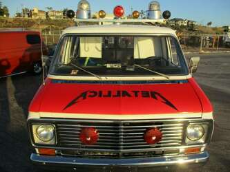 Hit the Lights' on this ambulance-turned-Metallica party van for