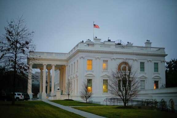 The White House in Washington as seen on Monday morning, Jan. 23, 2017. (AP Photo/Pablo Martinez Monsivais)