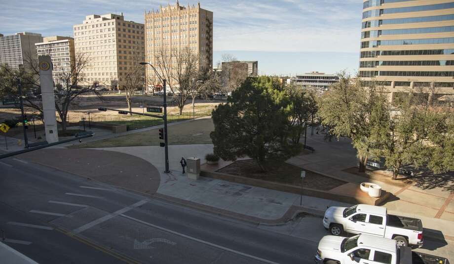 The downtown area of Centennial Plaza and the former courthouse are still vacant Monday 01-23-17. Tim Fischer/Reporter-Telegram Photo: Tim Fischer/Midland Reporter-Telegram
