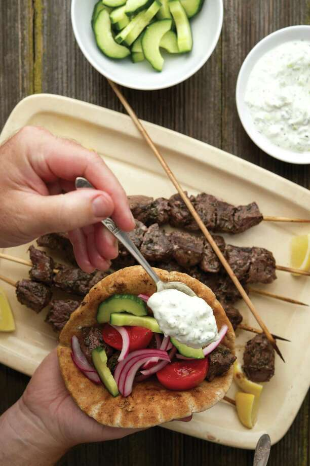 Venison is the perfect protein for the Greek inspired souvlaki. Photo: Courtesy Holly A. Heyser / Holly A. Heyser, heyserphoto.com
