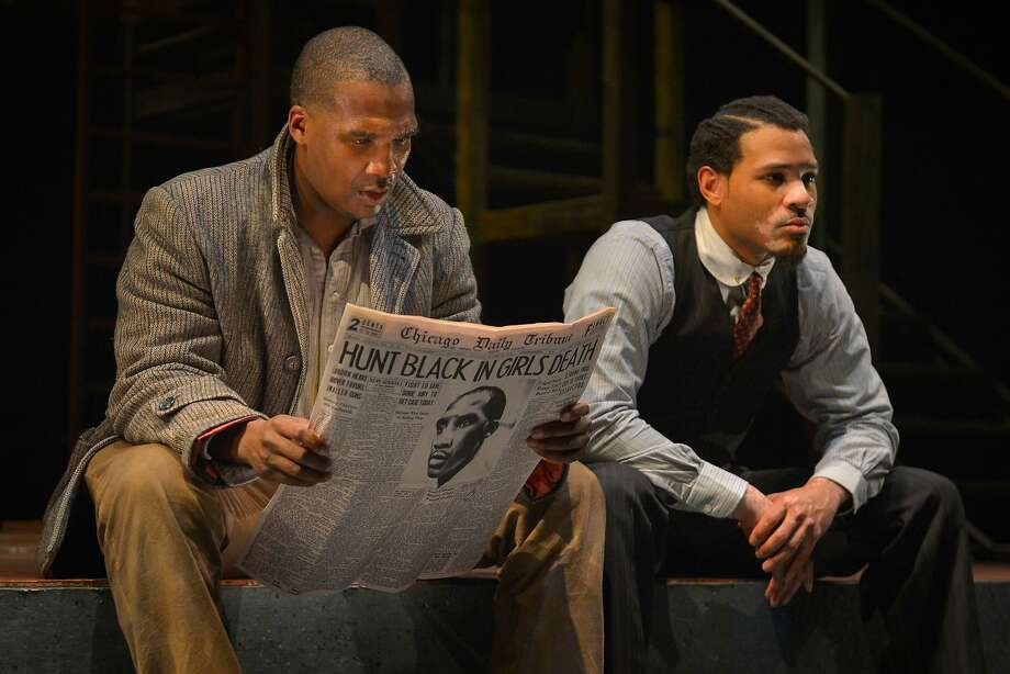 "From left: Bigger (Jerod Haynes) and the Black Rat (William Hartfield) in Marin Theatre Company's ""Native Son."" Photo: Kevin Berne, Marin Theatre Company"