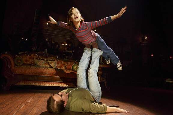 "Alessandra Baldacchino as Small Alison and Robert Petkoff as Bruce in ""Fun Home"" at the Curran."