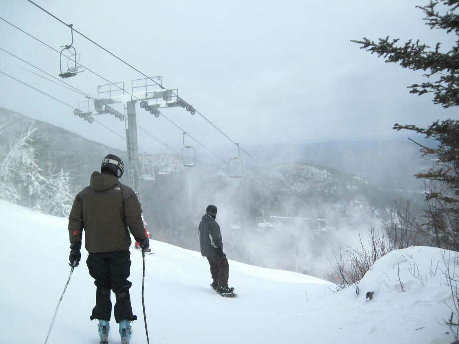 Skiing at Whiteface Mountain in Wilmington N.Y., Dec. 15, 2010. (Rick Karlin / Times Union)