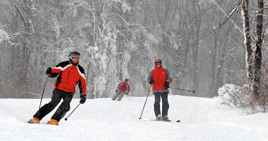 Skiers enjoy the fresh snow at Gore Mt. on Dec. 11, 2009, in North Creek, N.Y.  (Lori Van Buren / Times Union) Photo: LORI VAN BUREN