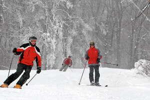 Skiers enjoy the fresh snow at Gore Mt. on Dec. 11, 2009, in North Creek, N.Y.  (Lori Van Buren / Times Union)