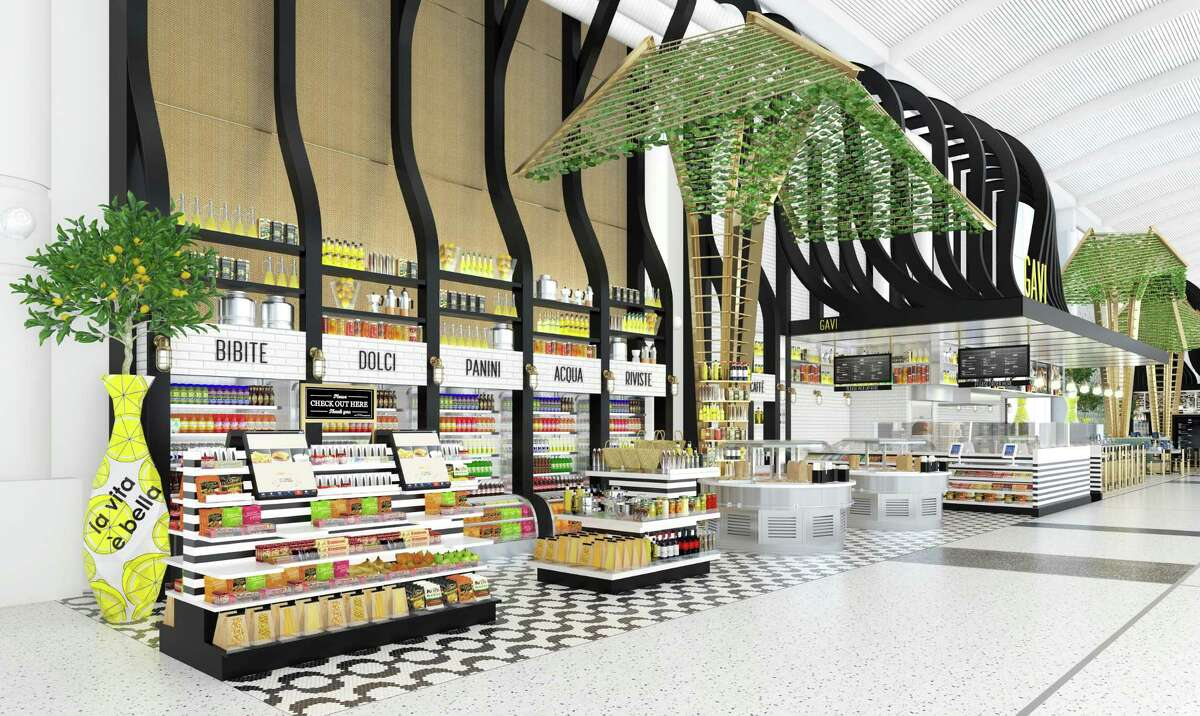 Rendering of the new Gavi restaurant that will be in Terminal E at Bush Intercontinental Airport. This is part of United Airlines and OTG's multi-million dollar upgrades at Bush Intercontinental Airport.
