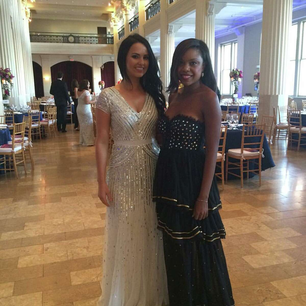 Sarah Henry and Amber Elliott at the Corinthian for the Houston Symphony's Opening Night concert and dinner gala.