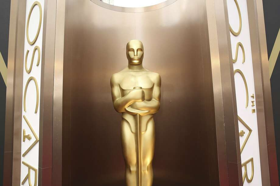 An Oscar statue is displayed at the Dolby Theatre in Los Angeles. Photo: Matt Sayles, Associated Press