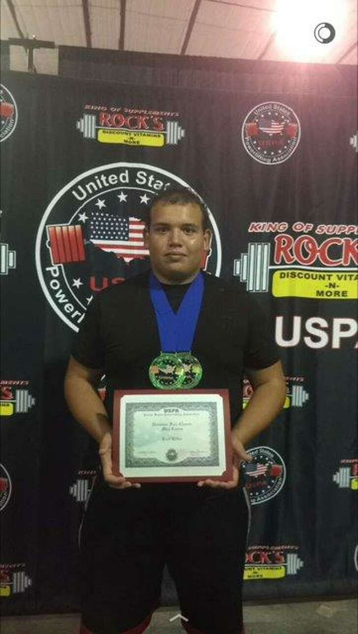 Max Casas of Dawson High School recently won a powerlifting meet in Dickinson where he prevailed with a 615-pound squat, a 325-pound bench press and a 535-pound deadlift. He has qualified for USPA national competition in July.