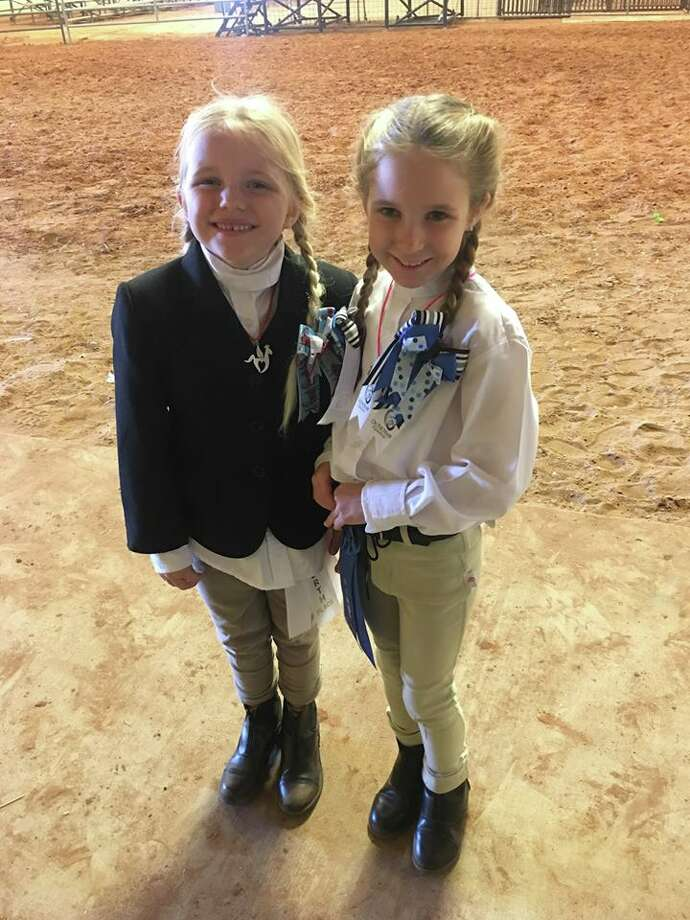 Equestrian show: Blaire Hargesheimer, left and Chloe Vines Photo: Courtesy Photos