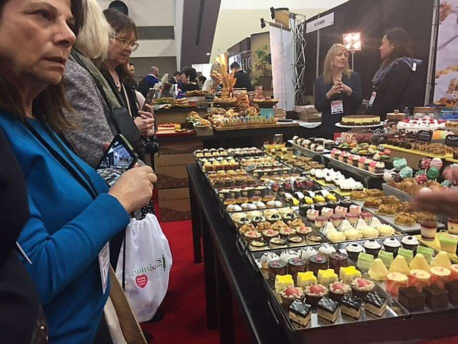 Array of offerings at Winter Fancy Food show. Photo: Leah Garchik, San Francisco Chronicle