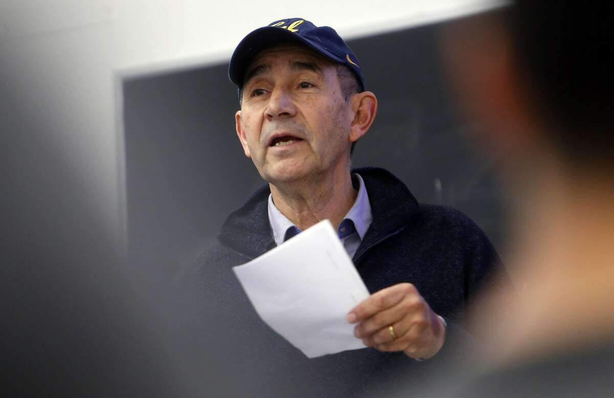 """Ricardo San Martin talks during UC Berkeley's """"Plant-Based Meat Challenge Lab,"""" a class where students will compete to innovate new meat substitutes. Photographed in Berkeley, Calif., on Monday, January 23, 2017."""