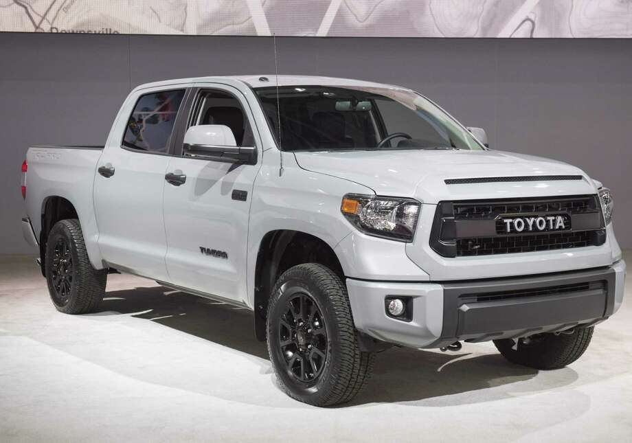 The Toyota Tundra pickup truck is seen during the 2017 North American International Auto Show in Detroit. Toyota says it's recalling about 79,000 Tundra pickup trucks because steps in the rear bumpers could break. Photo: Saul Loeb /AFP /Getty Images / AFP or licensors